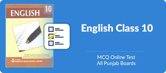Matric students online test preparation of English MCQs