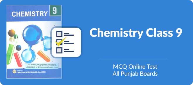 9th class Chemistry MCQs test online preparation