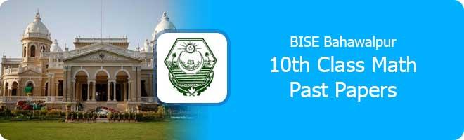 10th Class mathematics Past Papers Bahawalpur Board