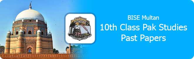 10th Class Pak Studies Past Papers Multan Board